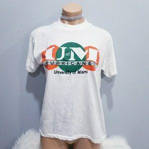 Vintage 80's UM HURRICANES retro t shirt XL